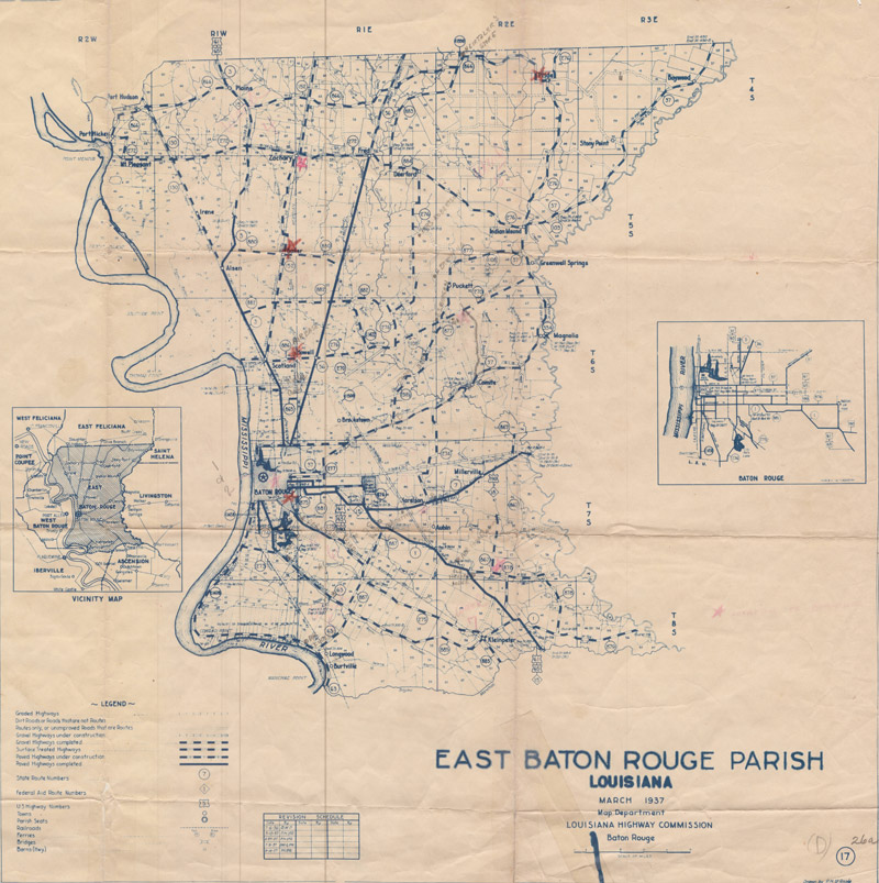 1937 Louisiana Highway Commission Map